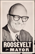 """Movie Posters:Miscellaneous, Roosevelt for Mayor (1965). Rolled, Fine/Very Fine. Poster (22.5"""" X35""""). Miscellaneous.. ..."""