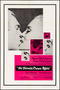 """The Thomas Crown Affair (United Artists, 1968). Folded, Very Fine-. One Sheet (27"""" X 41""""). Crime"""