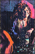 """Movie Posters:Rock and Roll, Janis Joplin & Other Lot (c. 1970s). Rolled, Fine+. Black Light Posters (2) (23.5"""" X 35.5""""). Rock and Roll.. ... (Total: 2 Items)"""
