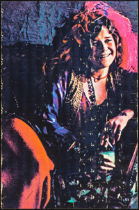 """Janis Joplin & Other Lot (c. 1970s). Rolled, Fine+. Black Light Posters (2) (23.5"""" X 35.5""""). Rock and Roll..."""