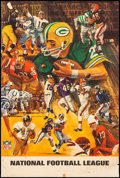 Movie Posters:Sports, National Football League (1968). Rolled, Fine+. Po...