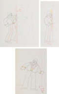 Animation Art:Production Drawing, The Beatles Yellow Submarine John Lennon Animation Drawings Sequence of 3 (United Artists/King Features Syndicate,...