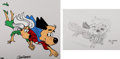"""Animation Art:Limited Edition Cel, """"Away We Go"""" Underdog Limited Edition Cel #846/1000 with Concept Drawing by Joe Harris (Golden Books/Total Television, 1997).... (Total: 2 )"""