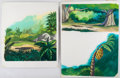 Animation Art:Production Drawing, The Jungle Book Children's Story Book Background Illustrations Group of 2 (Walt Disney, c. 1990s).... (Total: 2 Original Art)