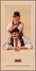 "Movie Posters:Comedy, Laurel and Hardy (Nostalgia Merchant, R-1987). Rolled, Very Fine+.Video Poster (20"" X 40"") Nelson Artwork. Comedy."