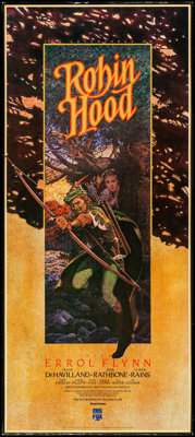 "The Adventures of Robin Hood (CBS Fox Video, R-1983). Rolled, Very Fine. Video Poster (16"" X 36"") N.C. Wyeth A..."