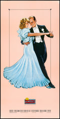 """Movie Posters:Musical, Fred Astaire and Ginger Rogers (Nostalgia Merchant, R-1987).Rolled, Very Fine. Video Poster (20"""" X 40"""") Stravinos Ar..."""