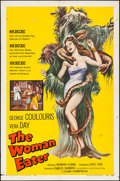 "Movie Posters:Horror, The Woman Eater (Columbia, 1959). Folded, Fine+. One Sheet (27"" X41""). Horror.. ..."