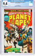 Bronze Age (1970-1979):Miscellaneous, Adventures on the Planet of the Apes #1 (Marvel, 1975) CGC NM 9.4White pages....