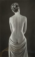 Photographs:Gelatin Silver, Ruth Bernhard (American, 1905-2006). Draped Torso, 1962. Gelatin silver, printed later. 13-1/2 x 8-3/8 inches (34.3 x 21...