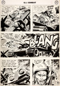 Original Comic Art:Panel Pages, Joe Kubert GI Combat #52 Story Page 8 Original Art (DC, 1957)....
