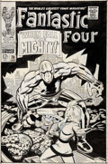 Original Comic Art:Covers, Jack Kirby and Joe Sinnott Fantastic Four #70 Cover Original Art (Marvel, 1968)....