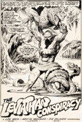 Original Comic Art:Splash Pages, Nestor Redondo Swamp Thing #13 Page 2 Original Art (DC,1974)....