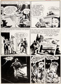 Original Comic Art:Panel Pages, Will Eisner The Spirit Weekly Newspaper Section Story Page 4 Original Art dated 3-7-48 (Register and Tribune Syndi...