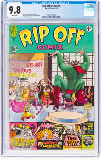 Rip Off Comix #5 (Rip Off Press, 1979) CGC NM/MT 9.8 White pages