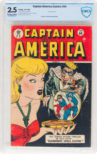 Captain America Comics #64 (Timely, 1947) CBCS GD+ 2.5 Off-white to white pages