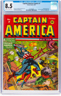 Golden Age (1938-1955):Superhero, Captain America Comics #7 (Timely, 1941) CGC VF+ 8.5 Cream to off-white pages....