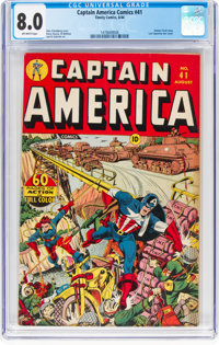 Captain America Comics #41 (Timely, 1944) CGC VF 8.0 Off-white pages