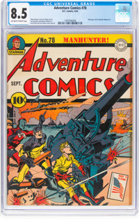 Adventure Comics #78 (DC, 1942) CGC VF+ 8.5 Off-white to white pages