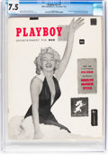 Magazines:Miscellaneous, Playboy #1 (HMH Publishing, 1953) CGC VF- 7.5 White pages....