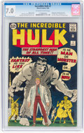 Silver Age (1956-1969):Superhero, The Incredible Hulk #1 (Marvel, 1962) CGC FN/VF 7.0 Off-white to white pages....