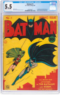 Golden Age (1938-1955):Superhero, Batman #1 (DC, 1940) CGC FN- 5.5 Cream to off-white pages....
