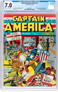 Golden Age (1938-1955):Superhero, Captain America Comics #1 (Timely, 1941) CGC FN/VF 7.0 Cream tooff-white pages....