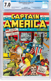 Captain America Comics #1 (Timely, 1941) CGC FN/VF 7.0 Cream to off-white pages