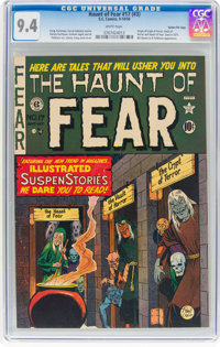 Haunt of Fear #17 (#3) Gaines File Pedigree (EC, 1950) CGC NM 9.4 White pages