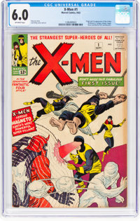 X-Men #1 (Marvel, 1963) CGC FN 6.0 Off-white pages