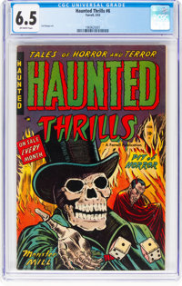 Haunted Thrills #6 (Farrell, 1953) CGC FN+ 6.5 Off-white pages