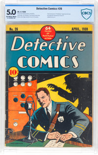 Detective Comics #26 (DC, 1939) CBCS VG/FN 5.0 Off-white to white pages