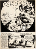 "Original Comic Art:Splash Pages, Fred Ray Action Comics #48 Splash Page ""Congo Bill"" Original Art (DC Comics, 1942)...."