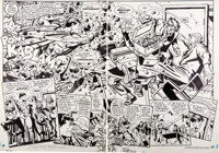 Alex Toth and Terry Austin Superman Annual #9 Pages 3-4 Original Art (DC, 1983)