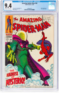 Silver Age (1956-1969):Superhero, The Amazing Spider-Man #66 (Marvel, 1968) CGC NM 9.4 Off-white towhite pages....