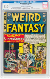 Weird Fantasy #13 (#1) (EC, 1950) CGC VF 8.0 Light tan to off-white pages