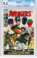 Silver Age (1956-1969):Superhero, The Avengers #60 (Marvel, 1969) CGC NM- 9.2 Off-white to white pages....