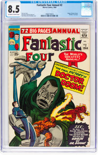 Fantastic Four Annual #2 (Marvel, 1964) CGC VF+ 8.5 Off-white to white pages