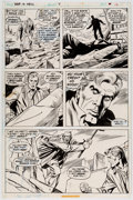 Original Comic Art:Panel Pages, Dick Ayers and Frank Springer War is Hell #9 Page 16Original Art (DC, 1974)....
