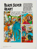 "Original Comic Art:Miscellaneous, Marie Severin B. Krigstein Vol. 1 Complete 7-Page Story ""Black Silver Heart"" Color Production Art (Fantagraphics B..."
