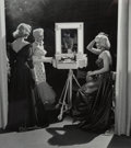 Photographs:Gelatin Silver, Frank Worth (American, 1923-2000). Lauren Bacall, Betty Grable, and Marilyn Monroe, on the set of How to Marry a Millionai...