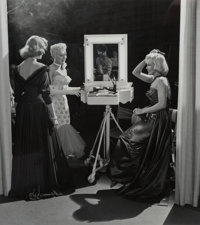 Frank Worth (American, 1923-2000) Lauren Bacall, Betty Grable, and Marilyn Monroe, on the set of How to Marry a