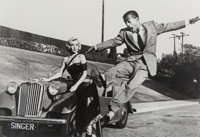 Frank Worth (American, 1923-2000) Marilyn Monroe and Sammy Davis Jr., on the set of How to Marry a Millionaire<...