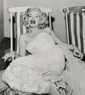 Photographs:Gelatin Silver, Frank Worth (American, 1923-2000). Marilyn Monroe in a Deckchair, 1954. Gelatin silver, 2004. 16-5/8 x 14-3/4 inches (42...