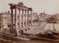 Photographs:Albumen, James Anderson (British, 1813-1877). Roman Forum, circa 1855. Albumen print, printed later. 10-5/8 x 13-5/8 inches (27.0...