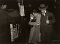 Photographs:Gelatin Silver, Lou Stoumen (American, 1917-1991). Young Couple, Times Square, New York and Times Square, New York (Salvation Army) ... (Total: 2 )