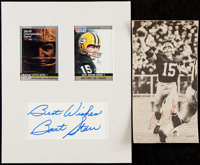 Bart Starr Signed Cut Display Lot of 2