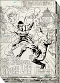 """Original Comic Art:Complete Story, Ric Estrada Richard Dragon, Kung-Fu Fighter #14 Complete 17-Page Story """"The Man Who Studied With Bruce Lee"""" Origin..."""