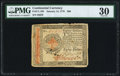 Continental Currency January 14, 1779 $80 PMG Very Fine 30