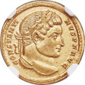 Ancients:Roman Imperial, Ancients: Constantine I the Great (AD 307-337). AV solidus (19mm, 4.45 gm, 6h). NGC Choice AU 5/5 - 3/5....